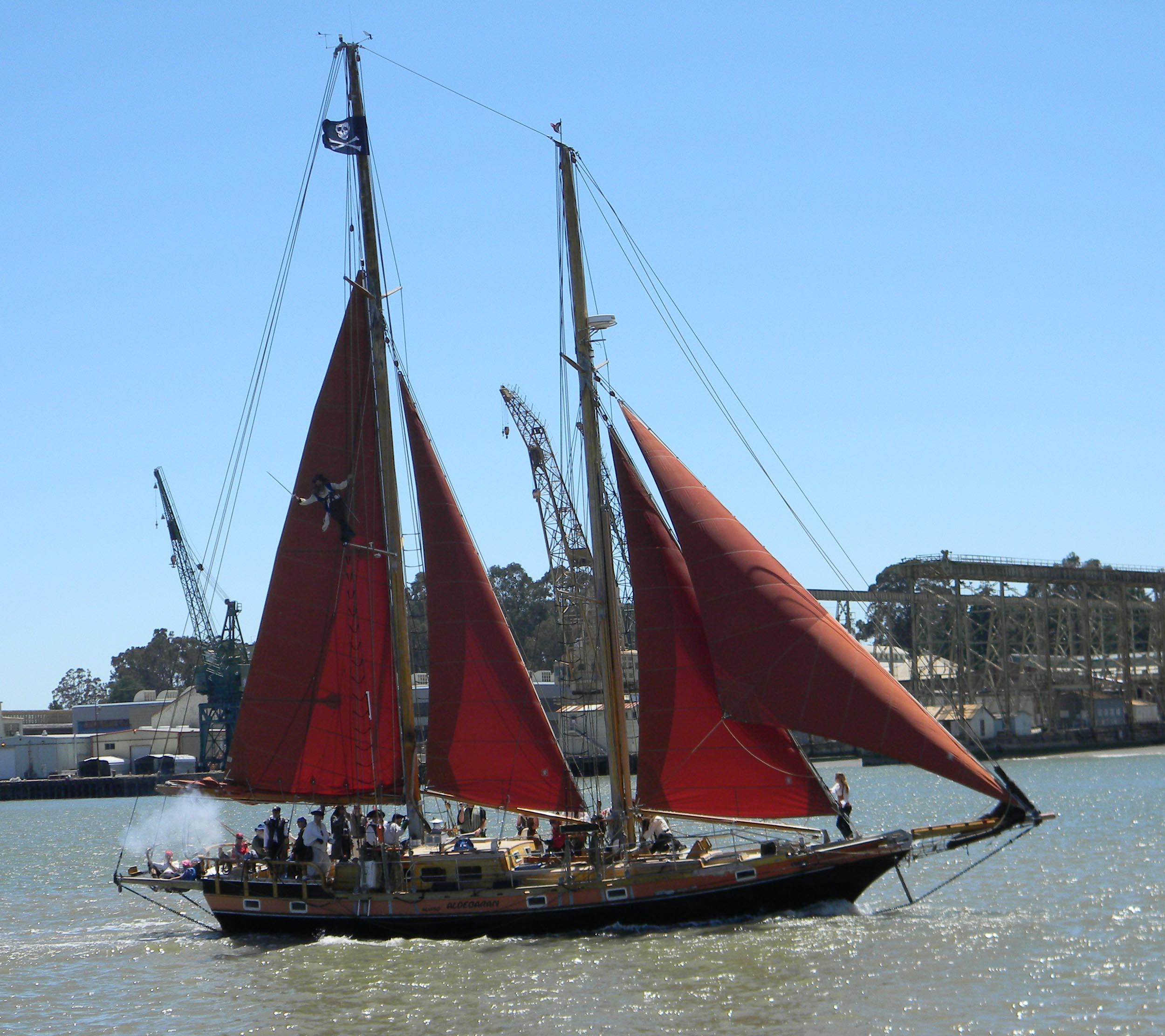 Aldebaran, pirate ship, in Bay wreck