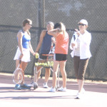 NEW BENICIA HIGH girls tennis head coach Lisa Burton (right) knows her Lady Panthers well and inherits a team coming off a SCAC championship.