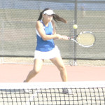 BENICIA'S MADELINE BEYER was a 6-0, 6-3 winner in No. 4 singles on Tuesday.