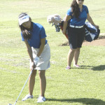 BENICIA'S SOFIA YOUNG (left) and Jennifer Eleccion are the top two contenders for the SCAC's Most Valuable Golfer award this year.