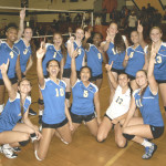 BENICIA HIGH'S varsity volleyball team wrapped up the Solano County Athletic Conference championship with a five-set victory at Vanden on Tuesday.