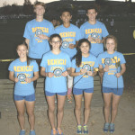 BENICIA HIGH'S varsity cross country program had seven runners earn All-SCAC honors at Wednesday's league championships held at Community Park. They are (back row from left) John Kuta, Duran Reyes, Luis Ramirez; (front row) Enid Partika, Rachel Kravitz, Allie Yip and Zoe Bumgarner.