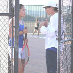 BENICIA HIGH girls tennis coach Lisa Burton (right) hopes to guide No. 1 singles player Michelle Li (left) to a SCAC championship.