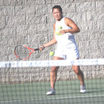 MICHELLE LI powered her way to a 6-0, 6-1 victory in No. 1 singles for Benicia at American Canyon.