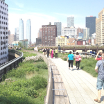 "NEW YORK'S NEWEST PARK — the ""High Line."" An abandoned elevated train track became a garden and an alternate walking route through the city. Steve McKee photo"