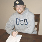 BENICIA HIGH senior Caleb Van Blake accepted a scholarship to play baseball for U.C. Davis after graduation.