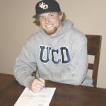 BENICIA HIGH senior Caleb Van Blake accepted a scholarship to play baseball for U.C. Davis after graduation.