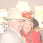 ARTIST MANUEL NERI and Pam Dixon, co-founder of Gallery 621, at a reception at the gallery on Sunday. Elaine Eisner photo