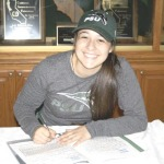 TAYA DE ALBA signed a letter of intent to play softball for Portland State University after playing one more season for St. Patrick-St. Vincent High School.