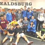 BENICIA HIGH'S wrestling team grabbed its third title in three weeks as the Panthers repeated as the Healdsburg dual champions last Saturday.