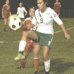 SPSV'S GRACIE QUINTOS tries to control the ball against Albany.