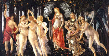 """LA PRIMAVERA"" by Botticelli, on which the VSO selection of the same name was based. Wikipedia"