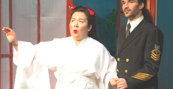 "MELODY KING, pictured with Carmello Tringali (Pinkerton), portrays Madama Butterfly alternately with Melissa Mallory in ""Madama Butterfly,"" at the Bay Terrace Theatre in Vallejo through March 15. Marsha Sims photos"