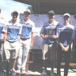 BENICIA HIGH'S boys golf team won the Bulldog Tournament in Tracy on Monday. The Panthers are (from left) Connor Hatfield, Nick Flores, Evan Cuenco, Zack McClure, Riley McCracken and Dustin Sparks.