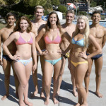BENICIA SENIORS (from left) Evan Sousa, Caitlin Wirth, Nathan Robertson, Justeen Singley, Nick Barlow, Nicole Peck and Cris Gomez have been a big reason for the swim team's success this spring.