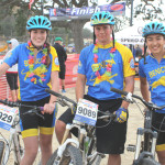 BENICIA HIGH mountain bike racers (from left) Emily Radtke, Chris Thatcher and Hunter Dean made the trip to the California State High School Championship in Los Olivos last weekend.