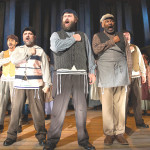 "THE PAPAS take their place in ""Tradition,"" in ""Fiddler on the Roof,"" at the Berkeley Playhouse through Aug. 2. Ben Krantz Studio photos"