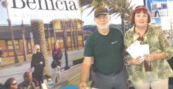 DAN AND CARLA SCHAEFFER invited passersby to learn more about Benicia at the city's booth in the Expo Hall at the Solano County Fair on Wednesday.