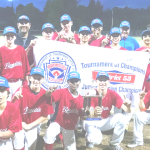 THE BENICIA NATIONALS swept a doubleheader from the top-seeded Benicia Royals to win the Junior League TOC Championship.