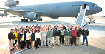 BENICIA MAYOR Elizabeth Patterson joined dozens of community leaders from across California on a recent tour of Vandenburg Air Base in Lompoc. Courtesy photo