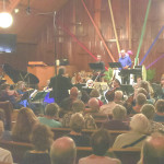 DAVID RAMADANOFF conducted the California Sound Collective before a packed house in Benicia on Sunday. Photo by Something Else Productions