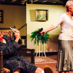 """THINGS GET DICEY in """"Let Me Hear You Smile,"""" at the Campbell Theatre, Martinez through Sept. 5. Pictured: Sheilah Morrison and Wayne McRice. Kathryn G. McCarty photo"""