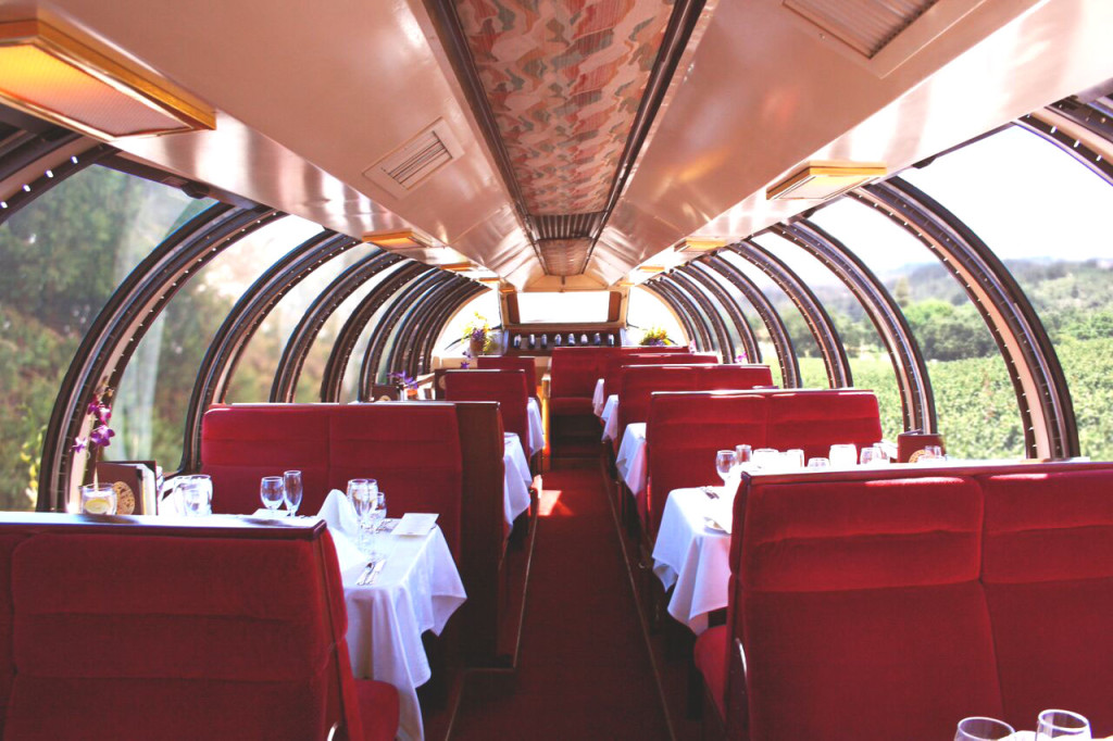 THE WINE TRAIN'S Vista Dome car. Courtesy photo