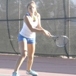 LILY HAYWARD had an early lead against her SCAC nemesis in No. 1 singles Tuesday but couldn't hang on.