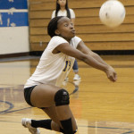 TAYLOR LEWIS had an ace and a couple of digs for Benicia in Tuesday's season-opening sweep of visiting Pittsburg.