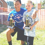 BENICIA STINGRAYS swimmers Elian Salindong (left) and Ryan Klubben were each High Point winners in their respective age divisions at last weekend's East County Invitational in Pittsburg.