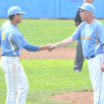 JIM BOWLES (right) has always had a close relationship with his players and led the Panthers to 11 league championships and four Sac-Joaquin Section titles in 16 years as manager.