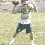 THREE-YEAR varsity player Michael Pappas is the starting quarterback for the Bruins.