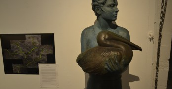 """""""Neptune's Daughter,"""" sculpted by Benicia artist Lisa Reinertson, is one of many works of art to be featured in Arts Benicia's """"Art of a Community"""" event, opening tomorrow. (Photo by Nick Sestanovich)"""