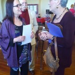 Benicia Poet Laureate Johanna Ely (Left) converses with first-place winner Joanne Jagoda at last year's Love Poetry Contest. (Photo courtesy of Peter Bray)